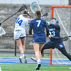 Hamilton College attacker Tatiana Bradley (14), GOAL<br /> <br /> 4/14/18 12:26:29 PM Women's Lacrosse: Connecticut College vs Hamilton College, at Steuben Field, Hamilton College, Clinton, NY <br /> <br /> Final:  Connecticut 8    Hamilton 13<br /> <br /> Photo by Josh McKee