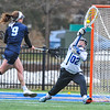 Hamilton College GK Eleni Neyland (2)<br /> <br /> 4/14/18 1:44:04 PM Women's Lacrosse: Connecticut College vs Hamilton College, at Steuben Field, Hamilton College, Clinton, NY <br /> <br /> Final:  Connecticut 8    Hamilton 13<br /> <br /> Photo by Josh McKee