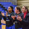 Team, Hamilton College head coach Michelle Collins<br /> <br /> 1/7/18 2:00:37 PM Hamilton College Women's Basketball v Trinity College at Margaret Bundy Scott Field House, Hamilton College, Clinton, NY<br /> <br /> Final:  Trinity 66  Hamilton 68<br /> <br /> Photo by Josh McKee