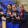 Team, Hamilton College head coach Michelle Collins<br /> <br /> 1/7/18 2:00:38 PM Hamilton College Women's Basketball v Trinity College at Margaret Bundy Scott Field House, Hamilton College, Clinton, NY<br /> <br /> Final:  Trinity 66  Hamilton 68<br /> <br /> Photo by Josh McKee