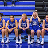 Starting Lineup, Hamilton College guard Kendall Rallins (10), Hamilton College guard Samantha Srinivasan (3), Hamilton College forward Lauren Getman (24), Hamilton College G/F Halie Serbent (32), Hamilton College guard Carly O'Hern (11)<br /> <br /> 1/7/18 2:00:18 PM Hamilton College Women's Basketball v Trinity College at Margaret Bundy Scott Field House, Hamilton College, Clinton, NY<br /> <br /> Final:  Trinity 66  Hamilton 68<br /> <br /> Photo by Josh McKee