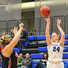 Hamilton College forward Lauren Getman (24)<br /> <br /> 11/27/17 8:06:41 PM Women's Basketball: Utica College v Hamilton College at Margaret Bundy Scott Field House, Hamilton College, Clinton, NY<br /> <br /> Final:  Utica 40  Hamilton 52<br /> <br /> Photo by Josh McKee