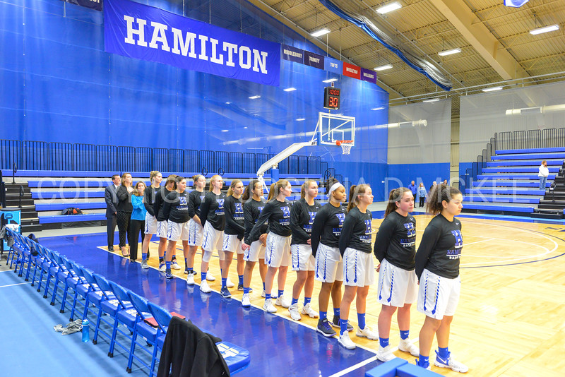 Team<br /> <br /> 11/27/17 8:03:01 PM Women's Basketball: Utica College v Hamilton College at Margaret Bundy Scott Field House, Hamilton College, Clinton, NY<br /> <br /> Final:  Utica 40  Hamilton 52<br /> <br /> Photo by Josh McKee