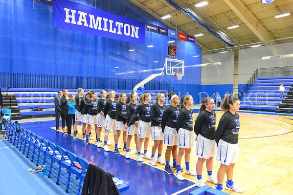 Team<br /> <br /> 11/27/17 8:03:01 PM Women's Basketball: Utica College v Hamilton College at Margaret Bundy Scott Field House, Hamilton College, Clinton, NY<br /> <br /> Final:  Utica 40  Hamilton 52<br /> <br /> Photo by Josh McKee