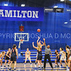 Tip-off<br /> <br /> 11/27/17 8:06:27 PM Women's Basketball: Utica College v Hamilton College at Margaret Bundy Scott Field House, Hamilton College, Clinton, NY<br /> <br /> Final:  Utica 40  Hamilton 52<br /> <br /> Photo by Josh McKee