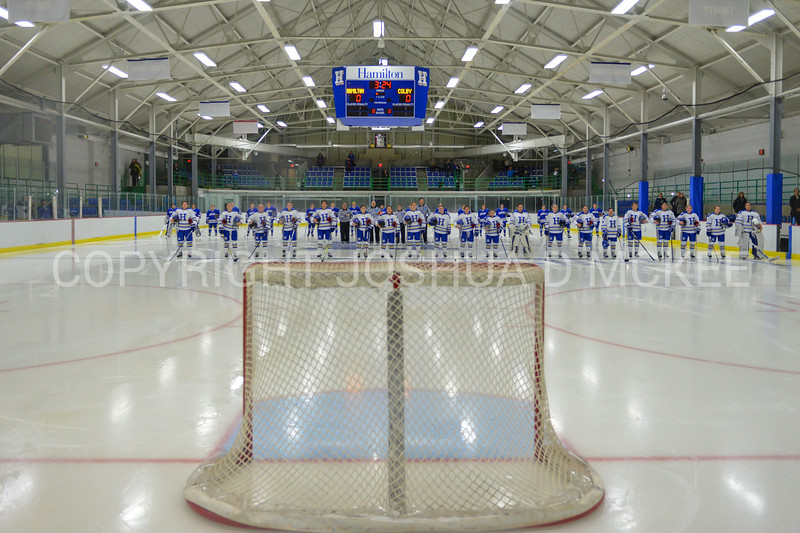 Team<br /> <br /> 12/1/17 6:59:48 PM Women's Hockey:  Colby College v Hamilton College at Russell Sage Rink, Hamilton College, Clinton, NY<br /> <br /> Final: Colby 0  Hamilton 1 (OT)<br /> <br /> Photo by Josh McKee