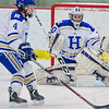 Hamilton College goaltender Sam Walther (30)<br /> <br /> 1/13/18 2:33:45 PM Women's Hockey:  Trinity College v Hamilton College at Russell Sage Rink, Hamilton College, Clinton, NY<br /> <br /> Final: Trinity 0   Hamilton 1 (OT)<br /> <br /> Photo by Josh McKee