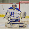 Hamilton College goaltender Sam Walther (30)<br /> <br /> 1/13/18 2:27:27 PM Women's Hockey:  Trinity College v Hamilton College at Russell Sage Rink, Hamilton College, Clinton, NY<br /> <br /> Final: Trinity 0   Hamilton 1 (OT)<br /> <br /> Photo by Josh McKee