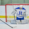Hamilton College goaltender Sammy Johnson (35)<br /> <br /> 1/13/18 2:33:19 PM Women's Hockey:  Trinity College v Hamilton College at Russell Sage Rink, Hamilton College, Clinton, NY<br /> <br /> Final: Trinity 0   Hamilton 1 (OT)<br /> <br /> Photo by Josh McKee