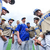 Hamilton College assistant coach Nolan Driscoll, Team<br /> <br /> 4/12/19 3:28:25 PM Baseball: Amherst College v Hamilton College at Loop Road Baseball/Softball Complex, Hamilton College, Clinton, NY<br /> <br /> Final:  Amherst 10   Hamilton 18<br /> <br /> Photo by Josh McKee