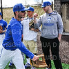 Hamilton College second baseman Jordan Northrup (15), Team<br /> <br /> 4/12/19 3:13:34 PM Baseball: Amherst College v Hamilton College at Loop Road Baseball/Softball Complex, Hamilton College, Clinton, NY<br /> <br /> Final:  Amherst 10   Hamilton 18<br /> <br /> Photo by Josh McKee