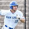 Hamilton College first baseman Graham McOsker (19)<br /> <br /> 3/14/19 4:25:21 PM Baseball: Southern Vermont v Hamilton College at Loop Road Baseball/Softball Complex, Hamilton College, Clinton, NY<br /> <br /> Final: Southern Vermont 3   Hamilton 5<br /> <br /> Photo by Josh McKee