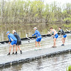 4/29/19 4:56:44 PM Hamilton College Rowing at the Rome Boathouse on the Erie Canal in Rome, NY<br /> <br /> Photo by Josh McKee