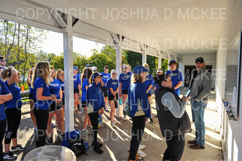 9/28/18 4:43:13 PM Hamilton College Rowing at the Rome Boathouse on the Erie Canal in Rome, NY<br /> <br /> Photo by Josh McKee