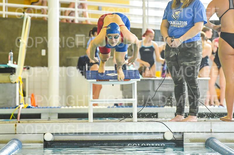 12/1/18 10:30:21 AM Swimming and Diving:  Hamilton College Invitational at Bristol Pool, Hamilton College, Clinton, NY <br /> <br /> Photo by Josh McKee