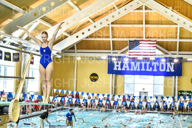 12/1/18 11:12:30 AM Swimming and Diving:  Hamilton College Invitational at Bristol Pool, Hamilton College, Clinton, NY <br /> <br /> Photo by Josh McKee
