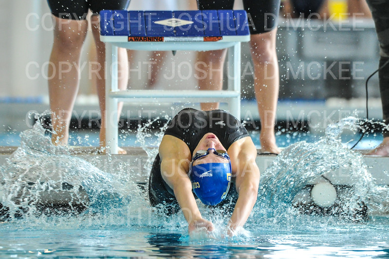 12/1/18 12:49:59 PM Swimming and Diving:  Hamilton College Invitational at Bristol Pool, Hamilton College, Clinton, NY <br /> <br /> Photo by Josh McKee