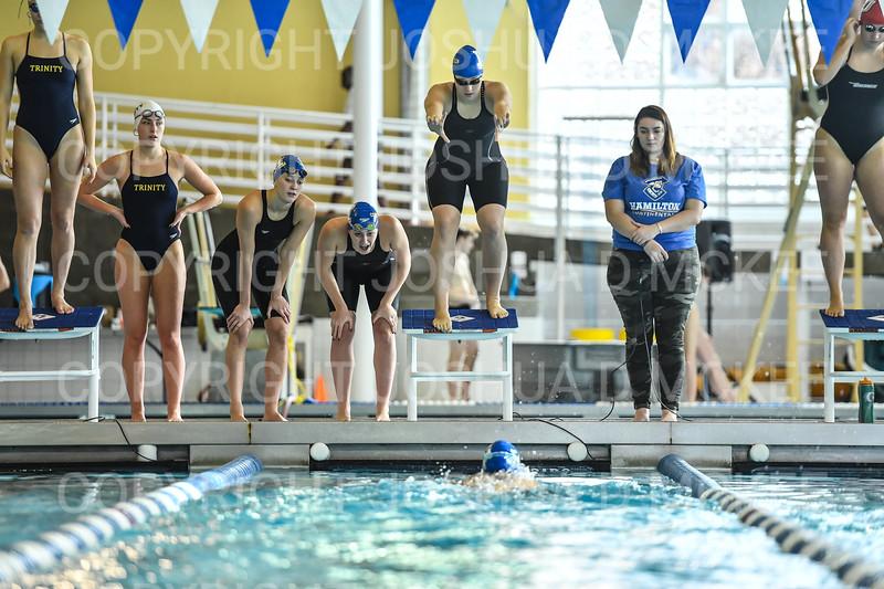 12/1/18 12:51:57 PM Swimming and Diving:  Hamilton College Invitational at Bristol Pool, Hamilton College, Clinton, NY <br /> <br /> Photo by Josh McKee