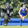 Hamilton College goalkeeper Julia Booth (9), Hamilton College D/M Cat Donahue (22)<br /> <br /> 9/16/18 1:13:59 PM Women's Field Hockey:  #1 Middlebury College vs #16 Hamilton College, at Goodfriend Field, Hamilton College, Clinton, NY<br /> <br /> Final: Middlebury 4  Hamilton 0<br /> <br /> Photo by Josh McKee