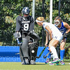 Hamilton College goalkeeper Julia Booth (9)<br /> <br /> 9/16/18 1:15:48 PM Women's Field Hockey:  #1 Middlebury College vs #16 Hamilton College, at Goodfriend Field, Hamilton College, Clinton, NY<br /> <br /> Final: Middlebury 4  Hamilton 0<br /> <br /> Photo by Josh McKee