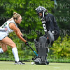 Hamilton College goalkeeper Julia Booth (9)<br /> <br /> 9/11/18 5:40:41 PM Women's Field Hockey:  Skidmore College vs #16 Hamilton College, at Goodfriend Field, Hamilton College, Clinton, NY<br /> <br /> Final: Skidmore 1  Hamilton 4<br /> <br /> Photo by Josh McKee