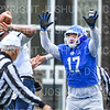 Hamilton College defensive end Alex Ganter (17)<br /> <br /> 11/3/18 12:44:54 PM Football--Old Rocking Chair Classic: Middlebury College vs Hamilton College, at Steuben Field, Hamilton College, Clinton, NY<br /> <br /> Final:  Middlebury 35   Hamilton 17 <br /> <br /> Photo by Josh McKee
