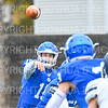 Hamilton College quarterback Kenny Gray (15)<br /> <br /> 11/3/18 12:42:36 PM Football--Old Rocking Chair Classic: Middlebury College vs Hamilton College, at Steuben Field, Hamilton College, Clinton, NY<br /> <br /> Final:  Middlebury 35   Hamilton 17 <br /> <br /> Photo by Josh McKee