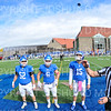 Hamilton College offensive lineman Micah Balogh (52), Hamilton College linebacker Cole Burchill (6), Hamilton College quarterback Kenny Gray (15)<br /> <br /> 10/6/18 12:59:46 PM Football:  Trinity College v Hamilton College at Steuben Field, Hamilton College, Clinton, NY<br /> <br /> Photo by Josh McKee
