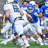 Hamilton College defensive back Justin Leigh (5)<br /> <br /> 10/6/18 1:07:47 PM Football:  Trinity College v Hamilton College at Steuben Field, Hamilton College, Clinton, NY<br /> <br /> Photo by Josh McKee