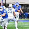 Hamilton College TE/P Billy Wagner (89)<br /> <br /> 10/6/18 1:06:22 PM Football:  Trinity College v Hamilton College at Steuben Field, Hamilton College, Clinton, NY<br /> <br /> Photo by Josh McKee