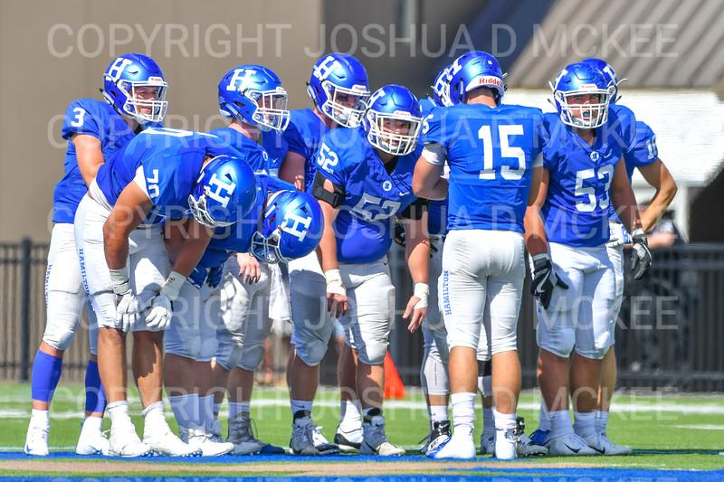 Team<br /> <br /> 9/15/18 1:49:21 PM Football:  Tufts University v Hamilton College at Steuben Field, Hamilton College, Clinton, NY<br /> <br /> Final:  Tufts 29  Hamilton 2<br /> <br /> Photo by Josh McKee