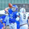 Hamilton College quarterback Kenny Gray (15)<br /> <br /> 9/15/18 2:28:56 PM Football:  Tufts University v Hamilton College at Steuben Field, Hamilton College, Clinton, NY<br /> <br /> Final:  Tufts 29  Hamilton 2<br /> <br /> Photo by Josh McKee