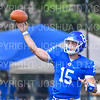 Hamilton College quarterback Kenny Gray (15)<br /> <br /> 9/15/18 2:02:34 PM Football:  Tufts University v Hamilton College at Steuben Field, Hamilton College, Clinton, NY<br /> <br /> Final:  Tufts 29  Hamilton 2<br /> <br /> Photo by Josh McKee