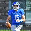 Hamilton College quarterback Kenny Gray (15)<br /> <br /> 9/15/18 2:26:01 PM Football:  Tufts University v Hamilton College at Steuben Field, Hamilton College, Clinton, NY<br /> <br /> Final:  Tufts 29  Hamilton 2<br /> <br /> Photo by Josh McKee