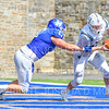 Hamilton College defensive end Alex Ganter (17)<br /> <br /> 9/15/18 1:52:47 PM Football:  Tufts University v Hamilton College at Steuben Field, Hamilton College, Clinton, NY<br /> <br /> Final:  Tufts 29  Hamilton 2<br /> <br /> Photo by Josh McKee
