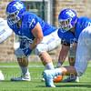 Hamilton College offensive lineman Micah Balogh (52)<br /> <br /> 9/15/18 1:16:50 PM Football:  Tufts University v Hamilton College at Steuben Field, Hamilton College, Clinton, NY<br /> <br /> Final:  Tufts 29  Hamilton 2<br /> <br /> Photo by Josh McKee