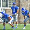 Hamilton College quarterback Kenny Gray (15)<br /> <br /> 9/15/18 1:16:46 PM Football:  Tufts University v Hamilton College at Steuben Field, Hamilton College, Clinton, NY<br /> <br /> Final:  Tufts 29  Hamilton 2<br /> <br /> Photo by Josh McKee