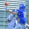 Hamilton College wide receiver Will Budington (18)<br /> <br /> 9/15/18 2:26:40 PM Football:  Tufts University v Hamilton College at Steuben Field, Hamilton College, Clinton, NY<br /> <br /> Final:  Tufts 29  Hamilton 2<br /> <br /> Photo by Josh McKee