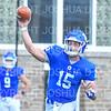 Hamilton College quarterback Kenny Gray (15)<br /> <br /> 9/15/18 2:38:06 PM Football:  Tufts University v Hamilton College at Steuben Field, Hamilton College, Clinton, NY<br /> <br /> Final:  Tufts 29  Hamilton 2<br /> <br /> Photo by Josh McKee