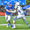 Hamilton College defensive back Jared Schwartz (14)<br /> <br /> 9/15/18 1:51:44 PM Football:  Tufts University v Hamilton College at Steuben Field, Hamilton College, Clinton, NY<br /> <br /> Final:  Tufts 29  Hamilton 2<br /> <br /> Photo by Josh McKee