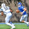 Hamilton College quarterback Kenny Gray (15)<br /> <br /> 9/15/18 1:38:02 PM Football:  Tufts University v Hamilton College at Steuben Field, Hamilton College, Clinton, NY<br /> <br /> Final:  Tufts 29  Hamilton 2<br /> <br /> Photo by Josh McKee
