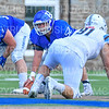 Hamilton College offensive lineman Micah Balogh (52)<br /> <br /> 9/15/18 2:33:04 PM Football:  Tufts University v Hamilton College at Steuben Field, Hamilton College, Clinton, NY<br /> <br /> Final:  Tufts 29  Hamilton 2<br /> <br /> Photo by Josh McKee