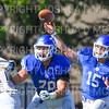 Hamilton College quarterback Kenny Gray (15)<br /> <br /> 9/15/18 3:13:08 PM Football:  Tufts University v Hamilton College at Steuben Field, Hamilton College, Clinton, NY<br /> <br /> Final:  Tufts 29  Hamilton 2<br /> <br /> Photo by Josh McKee