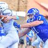 Hamilton College defensive end Alex Ganter (17), SAFETY<br /> <br /> 9/15/18 2:30:59 PM Football:  Tufts University v Hamilton College at Steuben Field, Hamilton College, Clinton, NY<br /> <br /> Final:  Tufts 29  Hamilton 2<br /> <br /> Photo by Josh McKee