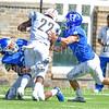 Hamilton College defensive back Mufudzi Chogugudza (23)<br /> <br /> 9/15/18 1:31:34 PM Football:  Tufts University v Hamilton College at Steuben Field, Hamilton College, Clinton, NY<br /> <br /> Final:  Tufts 29  Hamilton 2<br /> <br /> Photo by Josh McKee