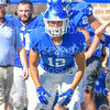 Hamilton College defensive back Bryce Phillips (12)<br /> <br /> 9/15/18 3:25:00 PM Football:  Tufts University v Hamilton College at Steuben Field, Hamilton College, Clinton, NY<br /> <br /> Final:  Tufts 29  Hamilton 2<br /> <br /> Photo by Josh McKee