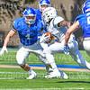 Hamilton College linebacker Carmine Bruno (4)<br /> <br /> 9/15/18 1:44:06 PM Football:  Tufts University v Hamilton College at Steuben Field, Hamilton College, Clinton, NY<br /> <br /> Final:  Tufts 29  Hamilton 2<br /> <br /> Photo by Josh McKee