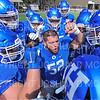 Hamilton College offensive lineman Micah Balogh (52), Team<br /> <br /> 9/15/18 12:33:04 PM Football:  Tufts University v Hamilton College at Steuben Field, Hamilton College, Clinton, NY<br /> <br /> Final:  Tufts 29  Hamilton 2<br /> <br /> Photo by Josh McKee