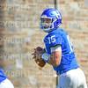Hamilton College quarterback Kenny Gray (15)<br /> <br /> 9/15/18 1:17:31 PM Football:  Tufts University v Hamilton College at Steuben Field, Hamilton College, Clinton, NY<br /> <br /> Final:  Tufts 29  Hamilton 2<br /> <br /> Photo by Josh McKee