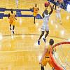 Hamilton College guard Nick Osarenren (4)<br /> <br /> 12/8/18 5:18:17 PM Men's Basketball: Elmira College v #4 Hamilton College at Margaret Bundy Scott Field House, Hamilton College, Clinton, NY<br /> <br /> Final: Elmira 67  #4 Hamilton 98<br /> <br /> Photo by Josh McKee